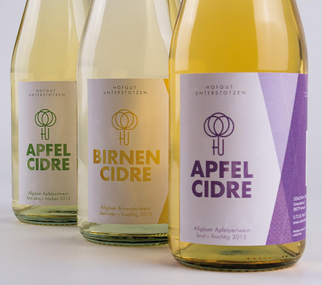 Cidre in drei Sorten