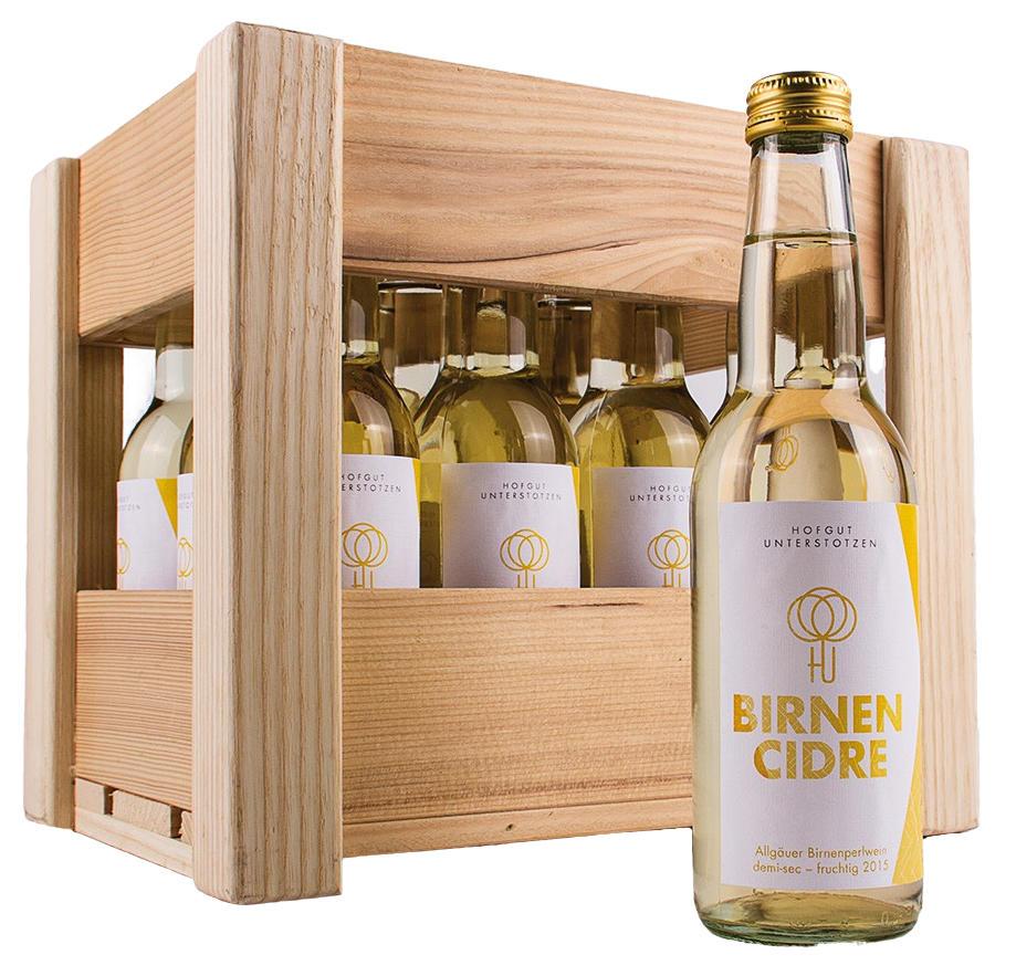 Birnen-Cidre Kiste